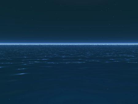 An illustration of a surreal, calm ocean. Stok Fotoğraf - 2488825