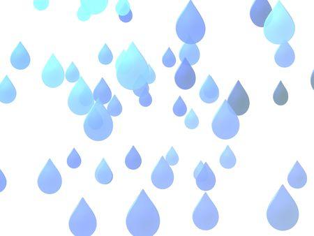 푸른 물 상품 화이트 절연 보여줍니다.