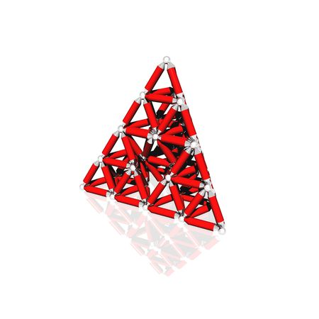 A virtual representation of strength utilizing the triangle, the most structurally sound shape in nature. 版權商用圖片