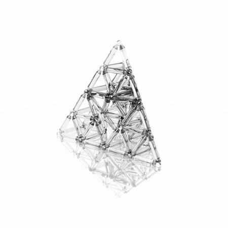 A virtual representation of strength utilizing the triangle, the most structurally sound shape in nature. Imagens