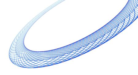 An abstract illustration of lines forming a ring.