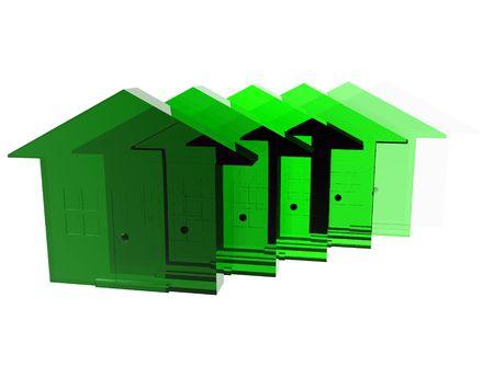 환경 친화적 인 주택의 개념적 이미지입니다. 스톡 콘텐츠