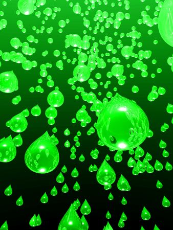 An illustration of lime juice raining from the sky.
