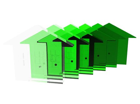 climatology: A conceptual image of environmental friendly housing.