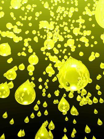 空から雨が降っているレモン ジュースのイラスト 写真素材 - 3179859