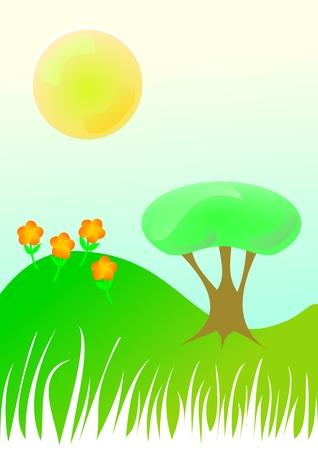 Vector illustration die een schoon milieu. Stock Illustratie
