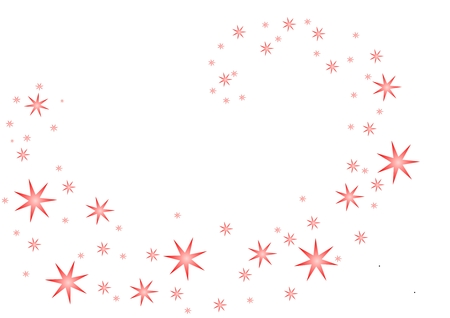 Vector of pink stars spiraling into the center of the image.