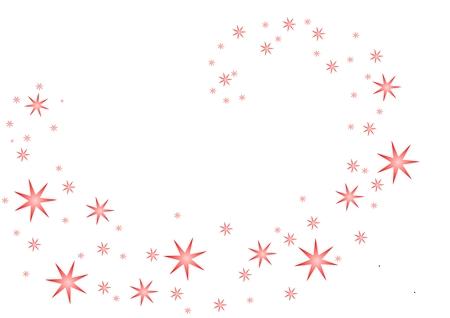 Vector van roze sterren spiraal in het midden van de afbeelding. Stock Illustratie