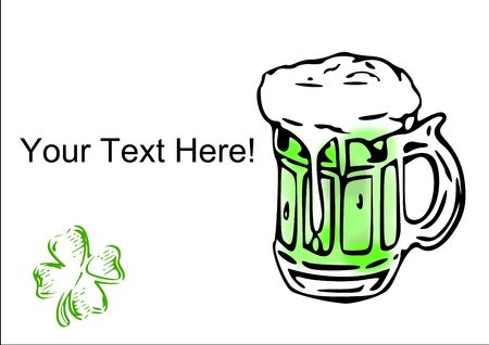 make my day: Add your text here to help make a St. Patrick's Day graphic. Stock Photo