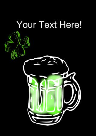 make my day: Add your text here to help make a St. Patrick�s Day graphic.