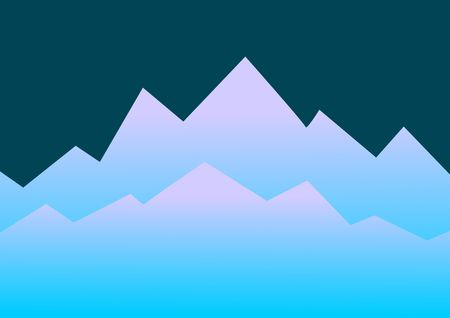 山 bluecolors の距離で上昇の抽象的なイラスト。