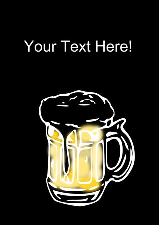 your text here: Add your text here to help to this Beer advertisement Stock Photo