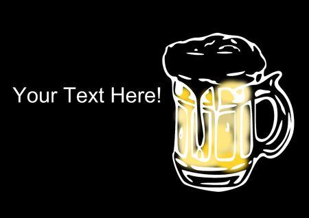 이 맥주 광고를 돕기 위해 여기에 텍스트를 추가하십시오. 스톡 콘텐츠
