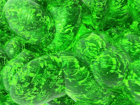 An illustration of an oily green liquid background Banco de Imagens