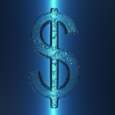 An illustration of an icy US dollar sign.