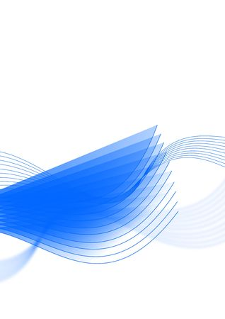 Abstract illustration of transparent blue lines and shapes.