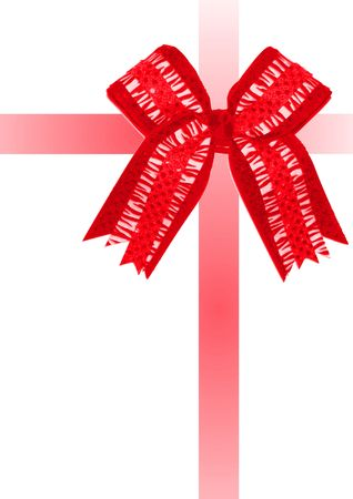 A red bow and ribbons wrapping the image as if it were a gift.