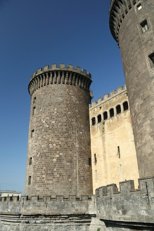 Exterior image of Castel Nuovo in Naples, Italy. photo