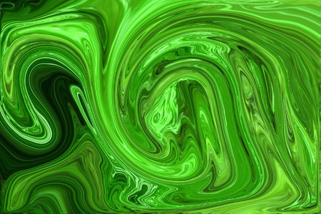 oily: Abstract image of a green and black, oily background.