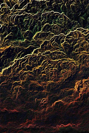 Abstract illustration that has the appearance of data from an electron microscope. Фото со стока
