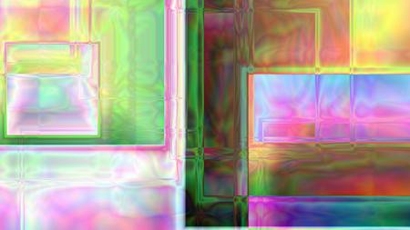 カラフルな抽象的なプリズム背景 4 K 解像度でキューブに基づきます。