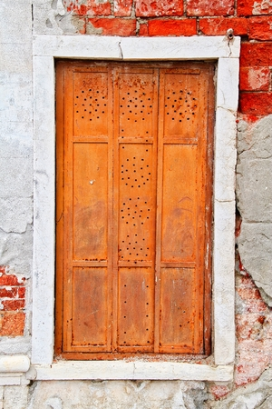 A window from the city of Venice Italy.