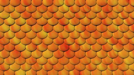 3D Illustratie van een schaal zoals huid voor een reptiel. Stockfoto