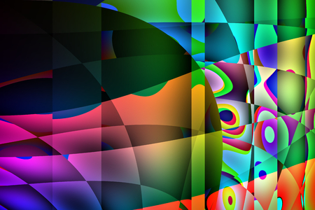 Colorful abstract background illustration with areas of black and saturated colors.