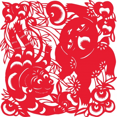 One of the Chinese zodiac signs  Monkey  Vector