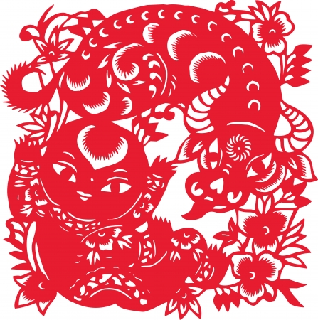 One of the Chinese zodiac signs  Ox  Vector