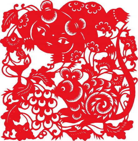 One of the Chinese zodiac signs  Rat  Vector