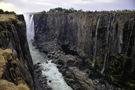 zimbabwe: The Victoria Falls in Zimbabwe. Stock Photo