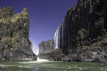 zambezi: The Victoria Falls  in Zimbabwe.