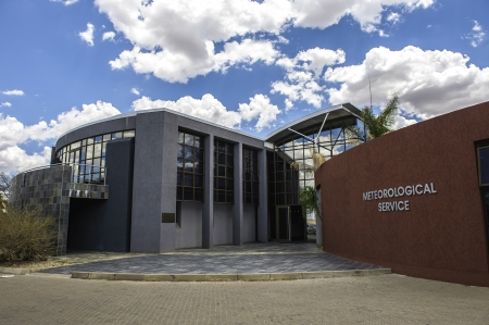 meteorological: A typical meteorological office in Africa. Editorial