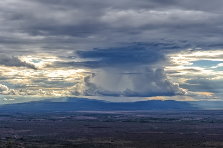East African Great Rift Valley under the sunset in Kenya  photo