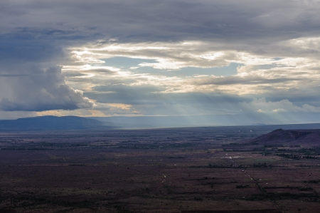 great plains: East African Great Rift Valley under the sunset in Kenya