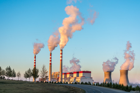 coal fired: The Coal-Fired Power Plant in Inner Mongolia of China Editorial