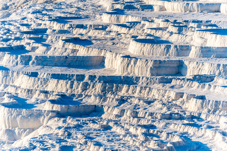 travertine: Natural travertine terraces at Pamukkale ,Turkey. Pamukkale, meaning cotton castle in Turkish.