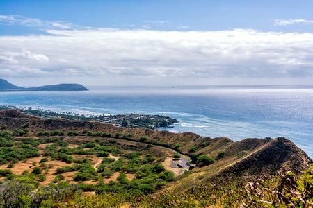 honolulu: Diamond Head in Waikiki, Honolulu from above.
