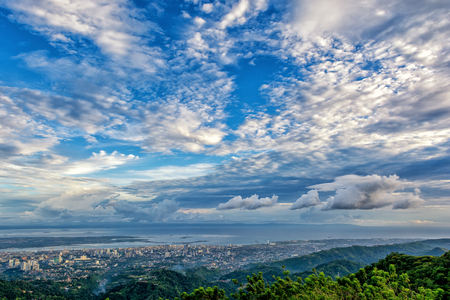 bird view: the beautiful bird view of the Cebu city from the tops outlook of the Phlippines.