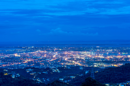 the beautiful bird view of the Cebu city from the tops outlook of the Phlippines.