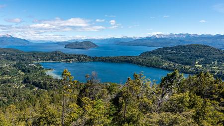 lake nahuel huapi: A birds eye view of the Lake Nahuel Huapi in Bariloche, Argentina.