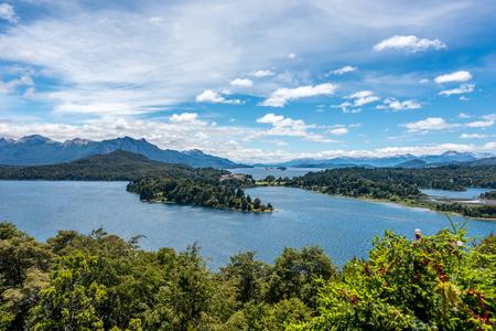 nahuel: A birds eye view of the Lake Nahuel Huapi in Bariloche, Argentina.
