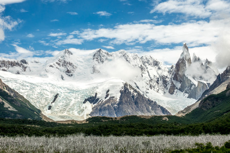 cerro chalten: the torre mountain is one of the mountains of the Southern Patagonian Ice Field in South America. It is located in the border between Argentina and Chile, west of  Chalten.
