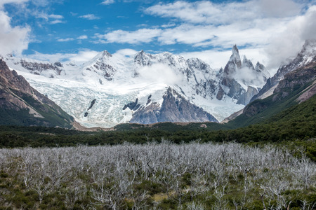 chalten: the torre mountain is one of the mountains of the Southern Patagonian Ice Field in South America. It is located in the border between Argentina and Chile, west of  Chalten.