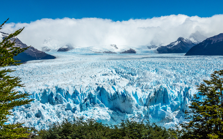 The Perito Moreno Glacier in the Los Glaciares National Park, Patagonia, Argentina.