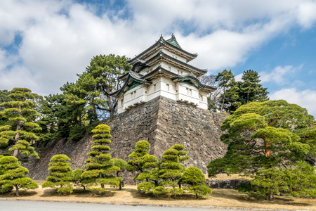 The Fujimi-yagura (Mt. Fuji-view Keep) which was watch tower in the imperial palace of Tokyo, Japan.