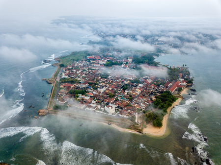 the birds-eye view of the Galle ancient town, Sri Lanka.