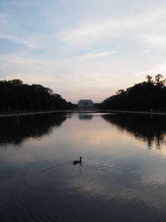 lincoln memorial: Reflecting pool and Lincoln Memorial Editorial