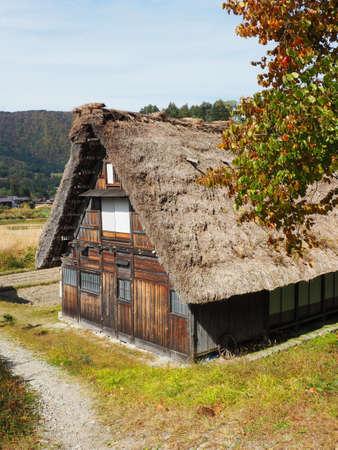 shirakawa go: Shirakawa Go, Japan, 2015. One of the many houses in Shiragawa Go during Autumn. Editorial